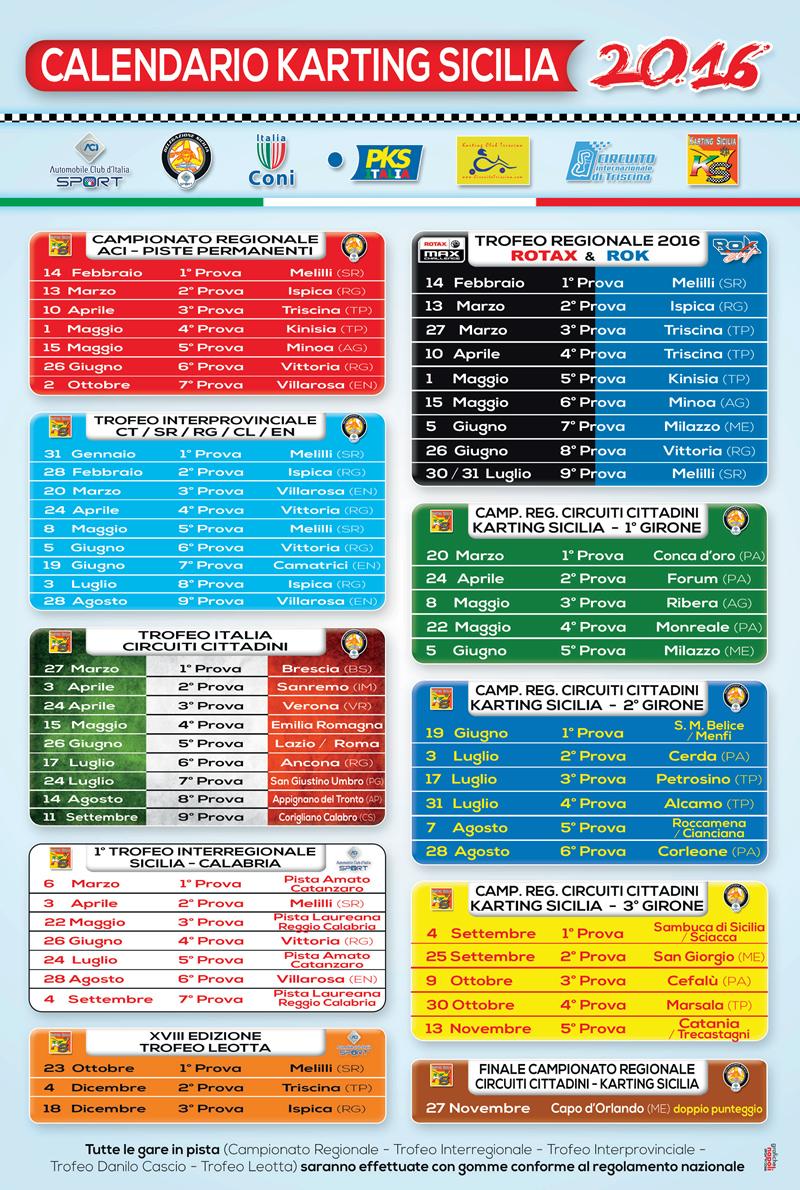 Calendario Regionale Sicilia.Calendario Karting Sicilia 2016 Il Portale Siciliano